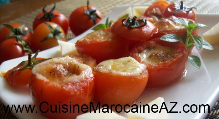 tomates cerise au mozzarella au four la cuisine marocaine de a z. Black Bedroom Furniture Sets. Home Design Ideas