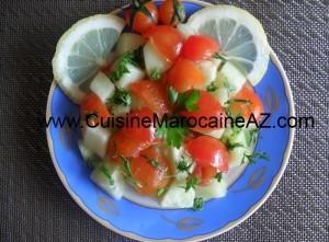 Cuisine marocaine Tomates cerise et concombre
