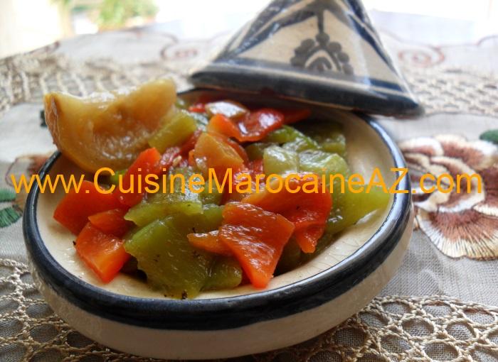 Salade aux deux poivrons grill s la cuisine marocaine de a z - Salade de poivron grille ...