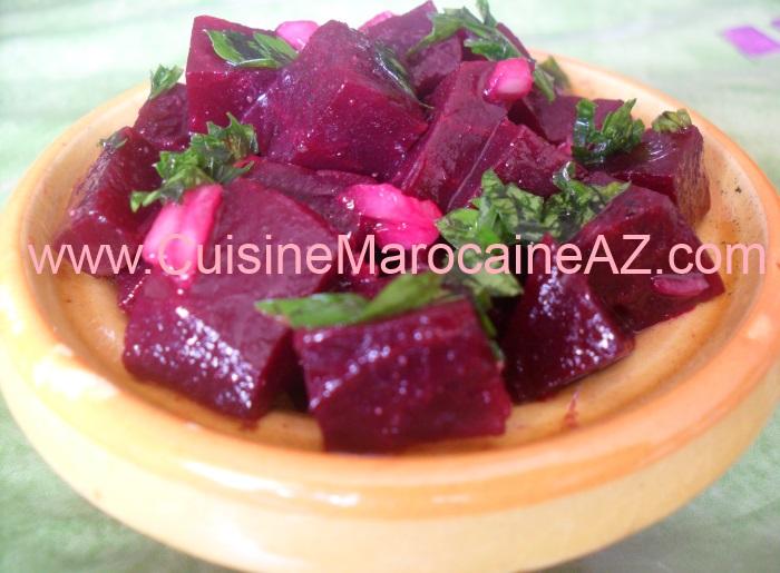 cuisine marocaine Salade de betterave