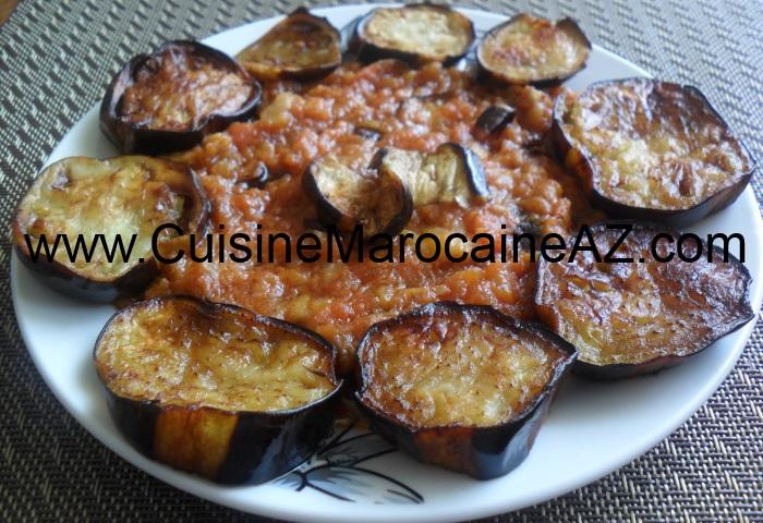 cuisine marocaine Salade de tomates et aubergine
