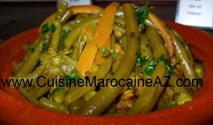 Cuisine marocaine Tajine de viande aux haricots verts