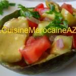 Salade d'avocat et tomates